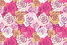 Seamless rose pattern by Sunny_Lion on Creative Market
