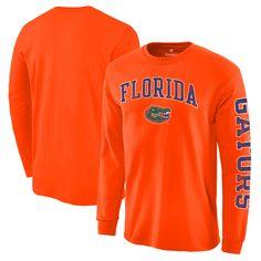 1fc7c180877 Florida Gators Fanatics Branded Distressed Arch Over Logo Long Sleeve Hit T- Shirt - Orange