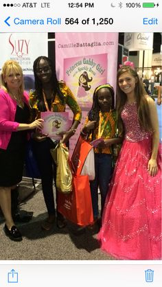1 year ago we met these Beautiful  African Princesses who took Princess Gabby Girl & the Sparkly Dress home to their far off land!  PrincessGabbyGirl.com