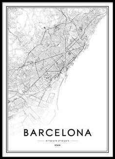 Barcelona Poster en el grupo Pósters / Tamaños / 50x70cm con Desenio AB (2051)
