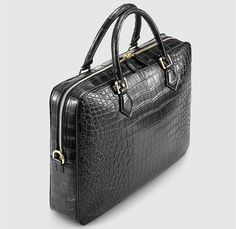Fashion Alligator Bag and Luxury Alligator Briefcase for Men : Fashion Alligator Bag, Luxury Alligator Briefcase for Men-Left Briefcase Women, Leather Briefcase, Leather Gifts, Leather Bags Handmade, Small School Bags, Cool Messenger Bags, Bags Travel, Leather Portfolio, Cloth Bags