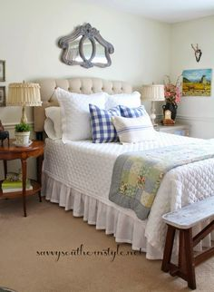 Savvy Southern Style: Spring in the French Style Guest Room #bHomeApp