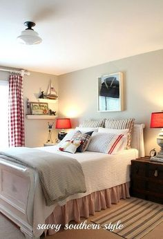 guest room, bedroom ideas, home decor, Painted the bed white with Pure White Annie Sloan chalk paint and distressed it