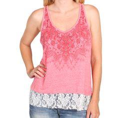 Shyanne® Women's Lace Trim Tank