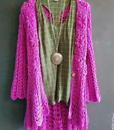 Crochet Jacket, Crochet Cardigan, Crochet Sweaters, Kerchief, Poncho Sweater, Crochet Fashion, Boho, Crochet Clothes, Kimono Top