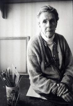 Leonora Carrington (1917-2011) - British-born–Mexican artist, surrealist painter, and novelist. - Photo by Marion Kalter, Paris 1998
