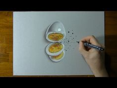 How I draw a boiled egg by Marcello Barenghi Pencil Drawing Tutorials, Watercolour Tutorials, Art Tutorials, Pencil Drawings, Eye Drawings, Lip Pencil, Pencil Art, Colored Pencil Tutorial, Drawing Techniques