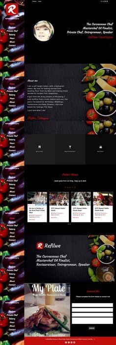 Refilwe Tselanyane - Celebrity Chef Website  Website Design & Development by 1 Day Webs (http://www.1daywebs.com)