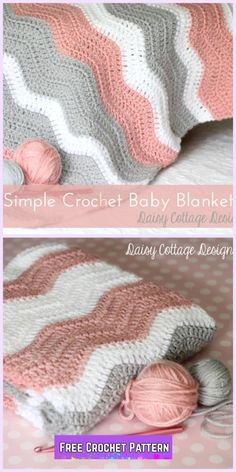 Crochet Ripple Baby Blanket Bear Free Pattern