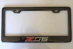 Carbon Fiber C7 C6 Z06 Corvette SUPERCHARGED License Plate Frame -SHOW QUALITY!!