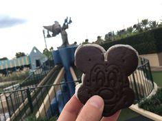 Classic Mickey Mouse ice cream sandwich! Click image to discover more yummy desserts in Orlando! #visitorlando