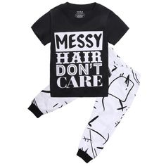 new product 3eb54 f1638 MESSY HAIR DONT CARE Pant Set Baby Boy Outfits, Summer Pants Outfits,