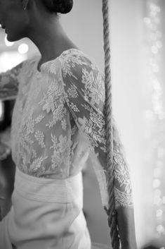 Laure de Sagazan Fall 2019 Bridal The Lane Another really pretty deep waistband I like Wedding Looks, Bridal Looks, Bridal Style, Wedding Bride, Wedding Day, Laura Lee, Event Dresses, Bridal Dresses, Beach Wedding Inspiration