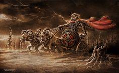 Родные Боги. Картины Игоря Ожиганова. Славянские и скандинавские сюжеты  Поездка в Ётунхейм