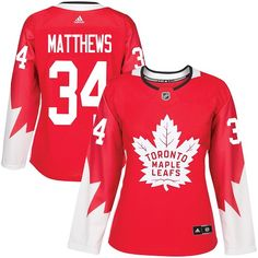 Adidas Toronto Maple Leafs  34 Women s Auston Matthews Authentic Red  Alternate NHL Jersey Mitchell And 785deee93