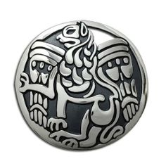 Sterling Silver Celtic Lions Spirit Lg Pendant. Made in USA. Metal Arts Group. $117.00