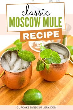 The best Moscow Mule recipe! This refreshing cocktail uses vodka and ginger beer to create a yummy drink to sip out of a copper mug.