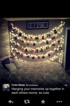 Hang lights with pictures