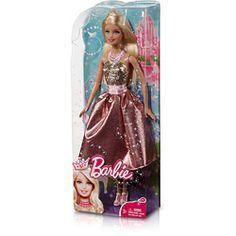 Barbie Princesa - Vestido Salmão/Sourado - Mattel