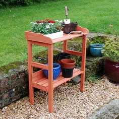 Wooden Potting Table Garden Greenhouse Patio Porch Bench Pots Grow Seeds Plants