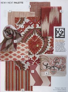 Traditional Home   Page 36, Lee Jofa   Fabric number 2:   Sonoma in Salmon - GWF-3109-12