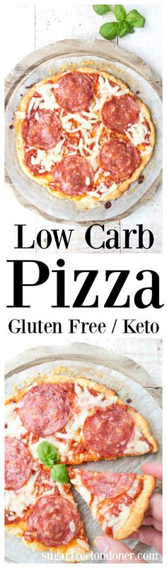 This easy low carb pizza has a delicious mozzarella dough crust with coconut flour and psyllium husk. Unlike in the original Fathead Keto pizza recipe, there's no need to heat and melt the mozzarella! #lowcarbpizza #pizza