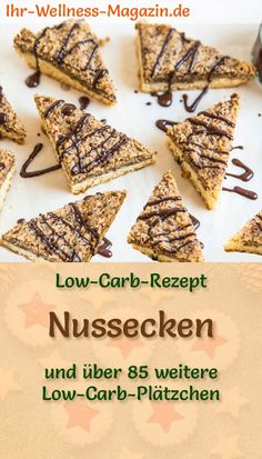 Low Carb Nut Cookies - Simple Cookie Recipe for Christmas Biscuits - Low Carb Recipe for Nut Nuts – Simple Cookie Recipe with Healthy Almond Flour, Hazelnuts, Walnuts - Christmas Desserts, Christmas Baking, Christmas Cookies, Easy Cookie Recipes, Cake Recipes, Healthy Desserts, Easy Desserts, Low Carb Cookies, Healthy Cookies