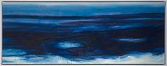 Media: pigments sur toile de lin, châssis bois, encadrement caisse US en bois Année : 2016 Taille : 70 x 205 x 5 cm