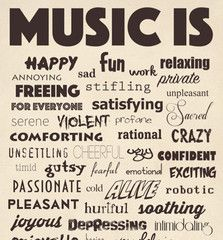 Get this great MUSIC IS poster for only $7 at www.tonedeafstore.com