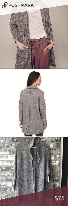 NWT Free People knit blazer Brand new!! With tags!! Casual knot blazer. Oversized fit. Super soft Free People Jackets & Coats Blazers