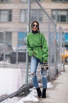 New York Moda Haftası Sonbahar-Kış Sokak Kombinleri 2018