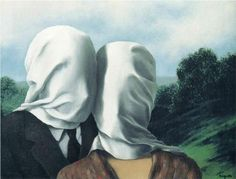 rene magritte - the lovers, 1928