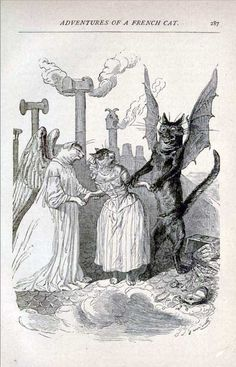 J. J. Grandville A Tale of Two Cats