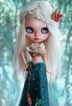 OOAK Custom Blythe Doll NERIDA MERMAID by Cihui di BlythebyCihui