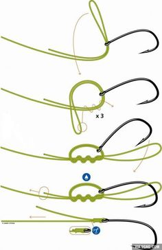 good to know how to tie on a fishing hook