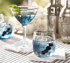 Metal Fleck Glassware | PotteryBarn (3 sets of martini glasses)