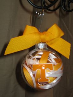TENNESSEE VOLS Handmade Glass Ornament by ScrapsandFlowers on Etsy https://www.etsy.com/listing/114866824/tennessee-vols-handmade-glass-ornament