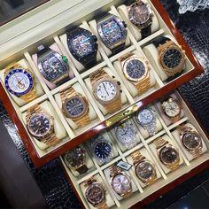 """Magic box.. #allavailable  Www.ndwatches.be #patekphilippe #rolex #audemarspiguet #richardmille"""
