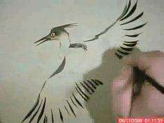Raggedy Heron:Chinese Brush Painting & Calligraphy Small Birds Animals I...