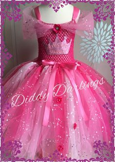 Ultimate Princess Tutu Dress. Beautiful & lovingly handmade.  All characters and colours available Price varies on size, starting from £25.  Please message us for more info.  Find us on Facebook www.facebook.com/DiddyDarlings1 or our website www.diddydarlings.co.uk