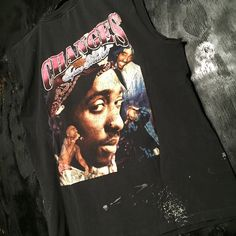 90s 2pac Shakur 'Changes' Thrashed Sleeveless Tee Shirt