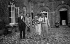 """a-poet-and-other-things: """" Evelyn Waugh, Sybil Colefax, Phyllis de Janze, Oliver Messel. """""""