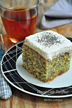 Best All Time Cake : Poppy seed Revani, Pastry Recipes, Cake Recipes, Dessert Recipes, Oreo Desserts, Granny's Recipe, Good Food, Yummy Food, Food Science, Turkish Recipes