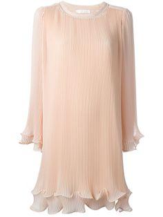 Chloé pleated georgette dress