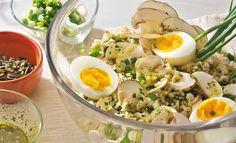 Reissalat mit Eiern und Champignons   Knorr