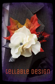 Mens Boutonniere Spider Halloween Wedding by TellableDesign, $12.00