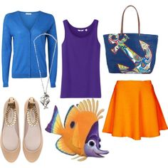 Tad, Finding Nemo by jboothyy on Polyvore featuring American Vintage, Uniqlo, Topshop, Zara, Vera Bradley and MANGO