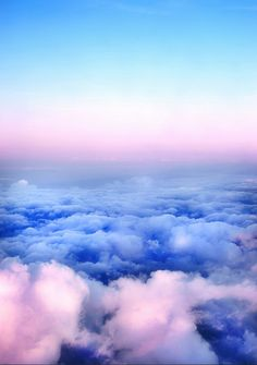 bright and colorful pastel cloud photography. Blue, pink and purple! Would make a nice phone background too. Save this one for later!