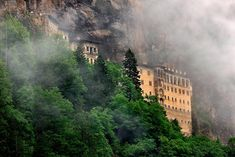 'Sumela monastery in the clouds' by Hercules Milas, Turkey Vacation, Pilgrimage, Hercules, The Locals, Mists, Travel Photography, National Parks, Scenery, Clouds
