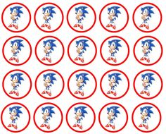 sonic the hedgehog cupcake toppers Más